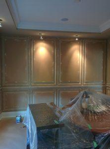 amazing coffered wall in luxury office renovation Markham