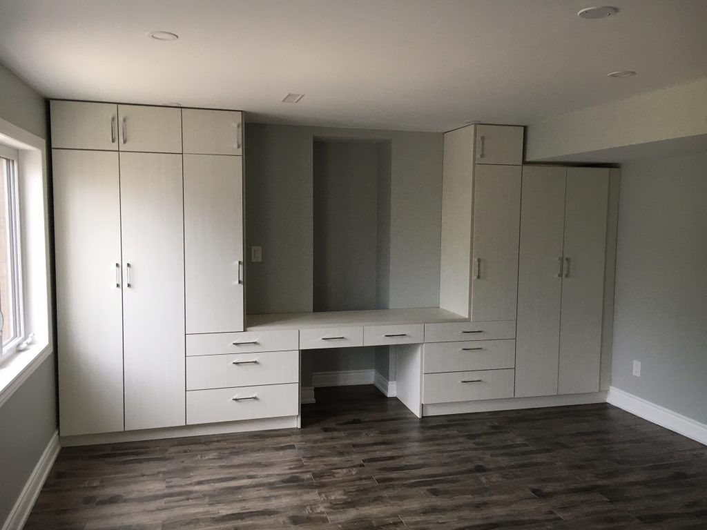 Custom Cabinetry unit in luxury bedroom - house renovation