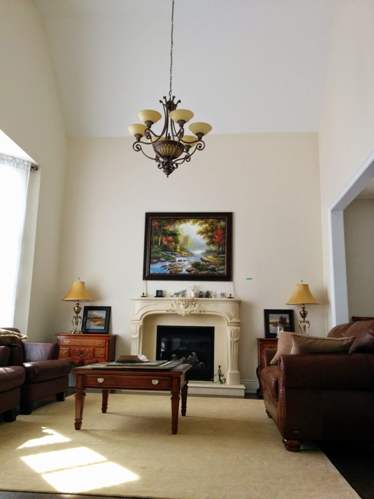 amazing-family-room project-with-custom-Fireplace-Mantel-decor-and-baseboard-trim-Alliston-complete-home-renovation