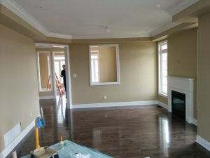 amazing living room painting and renovation by refined renos complete home renovation company GTA