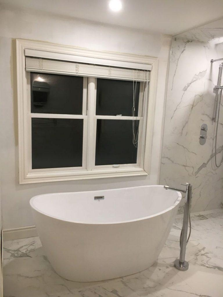 Amazing Freestanding Bathtub in Luxury Bathroom Remodeling Company