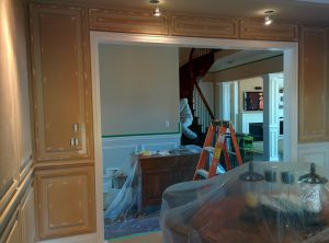 classic home with coffered wall decor and ceiling pot lights - home renovations newmarket