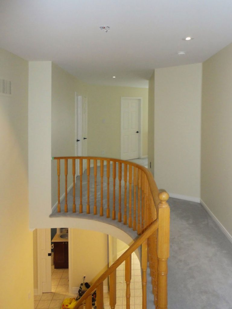 complete home renovation second floor wall painting and railings king city