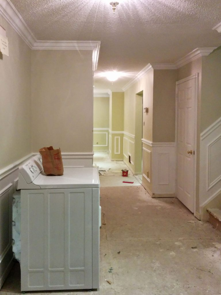 custom basement with laundry room renovation by refined renos king city