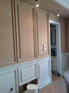 custom home-coffered wall trim-installation by refined renos woodbridge