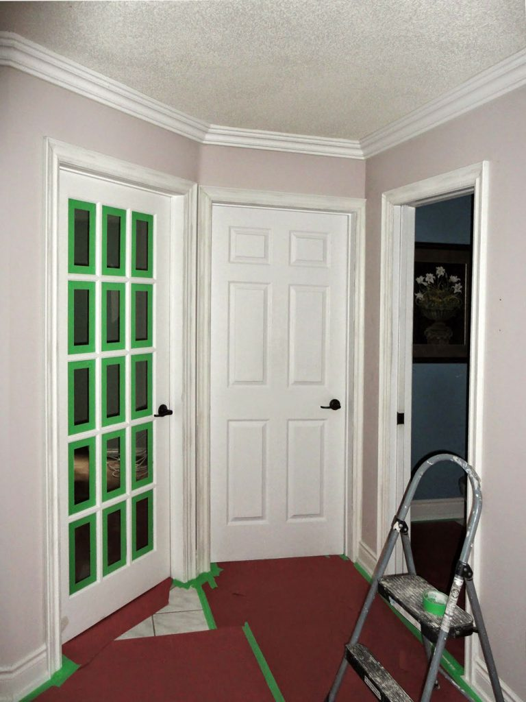 custom home renovation with new interior door installation and crown molding decor newmarket