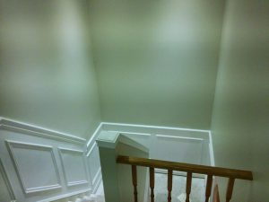 green wall paint with Wainscoting trim aurora