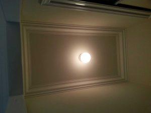 luxury crown molding ceiling trim in custom living room woodbridge