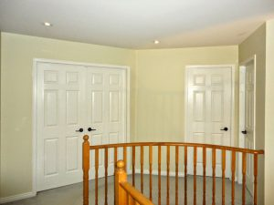 second floor interior door and staircase railings installation by refined renos newmarket