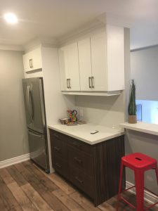 small kitchen renovation and two ton custom cabinets install Bradford