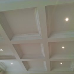 Simple coffered ceiling installation