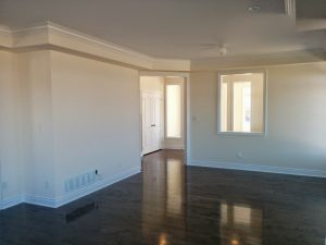 amazing basement room with luxury crown moulding and baseboard trim - basement finishing North york
