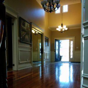 finished basement with luxury Flooring aurora
