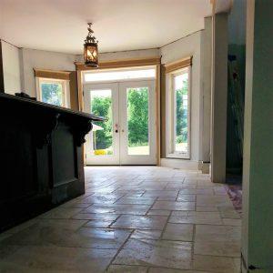 slate floor tiles installation