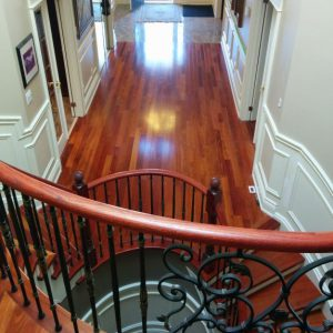 wainscoating trim in custom staircase Richmond hill