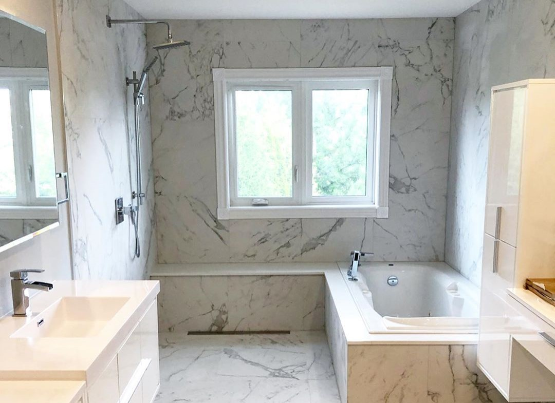 completed bathroom renovation project