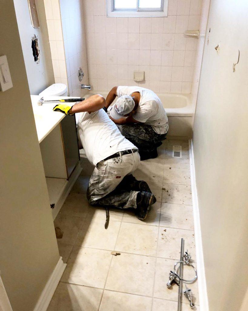 bathroom vanity installation refiend renos