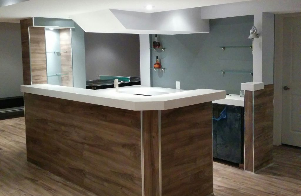 custom basement bar-basement renovation ideas aurora