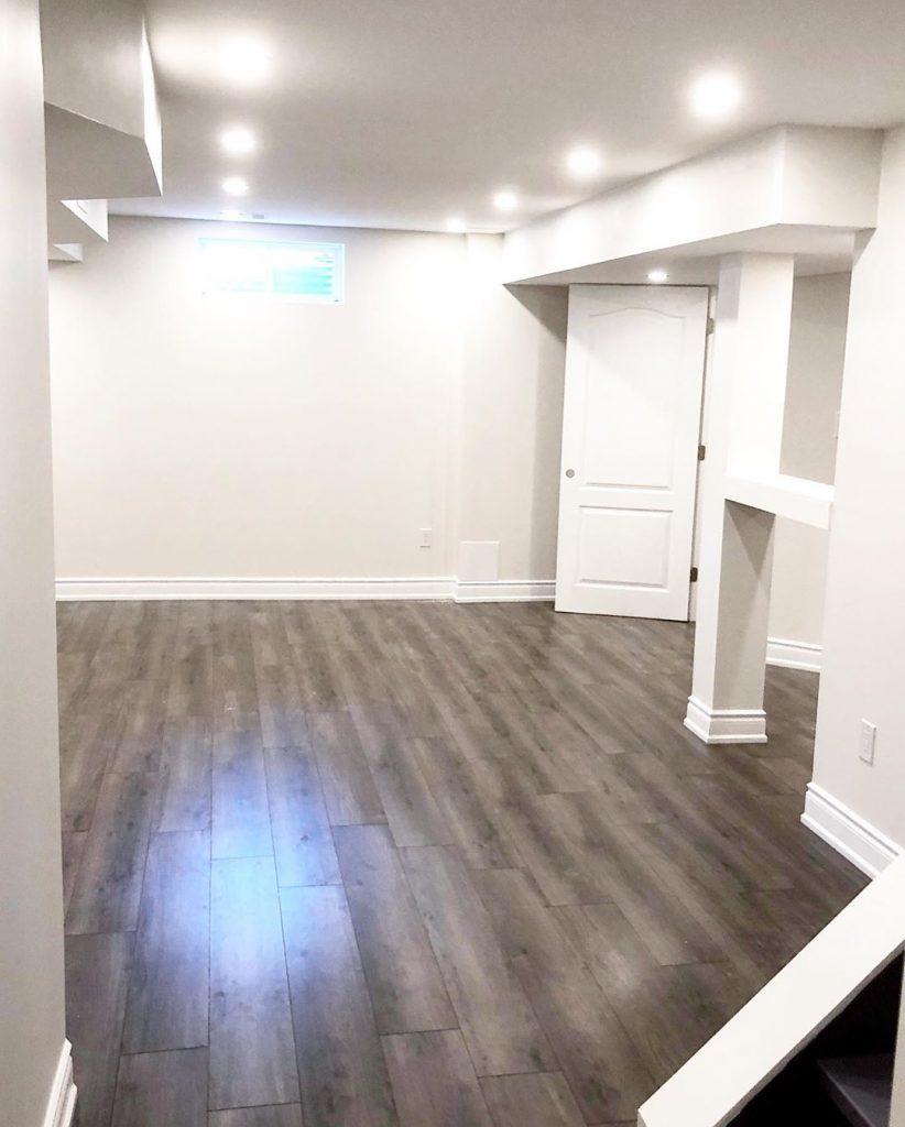 finished basement reno