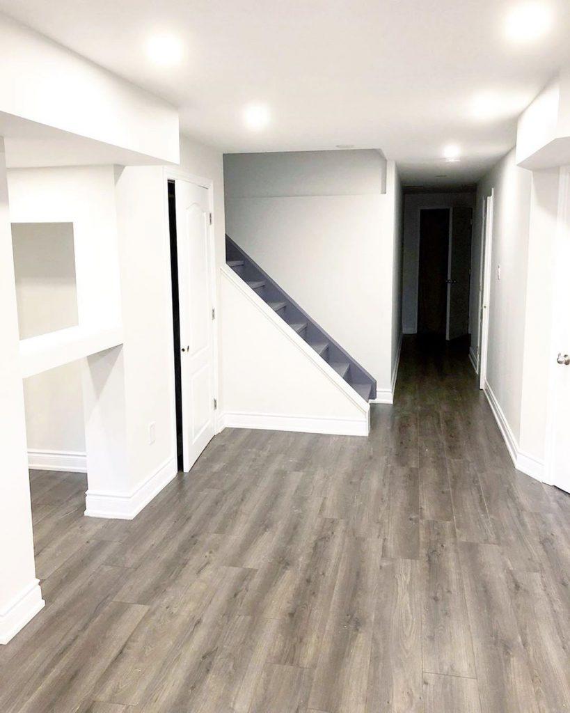 minimalistic basement renovation