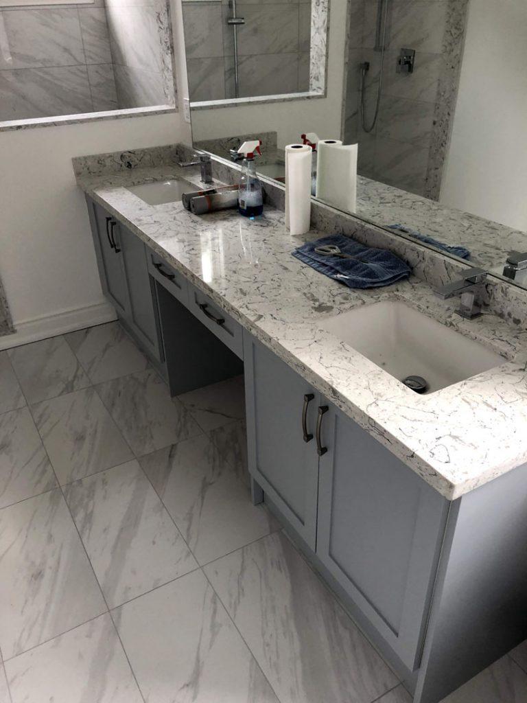 Alex Bungalo bathroom - demolition jobs toronto