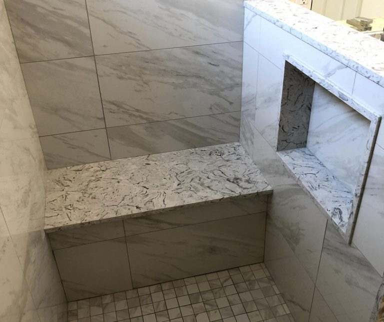 Shower Remodel Ideas -Build in Bench