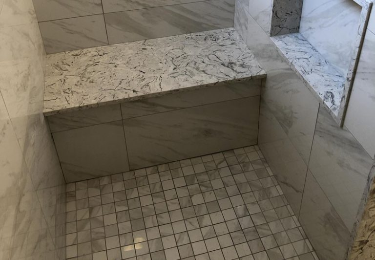 Build in Benches in Custom Shower