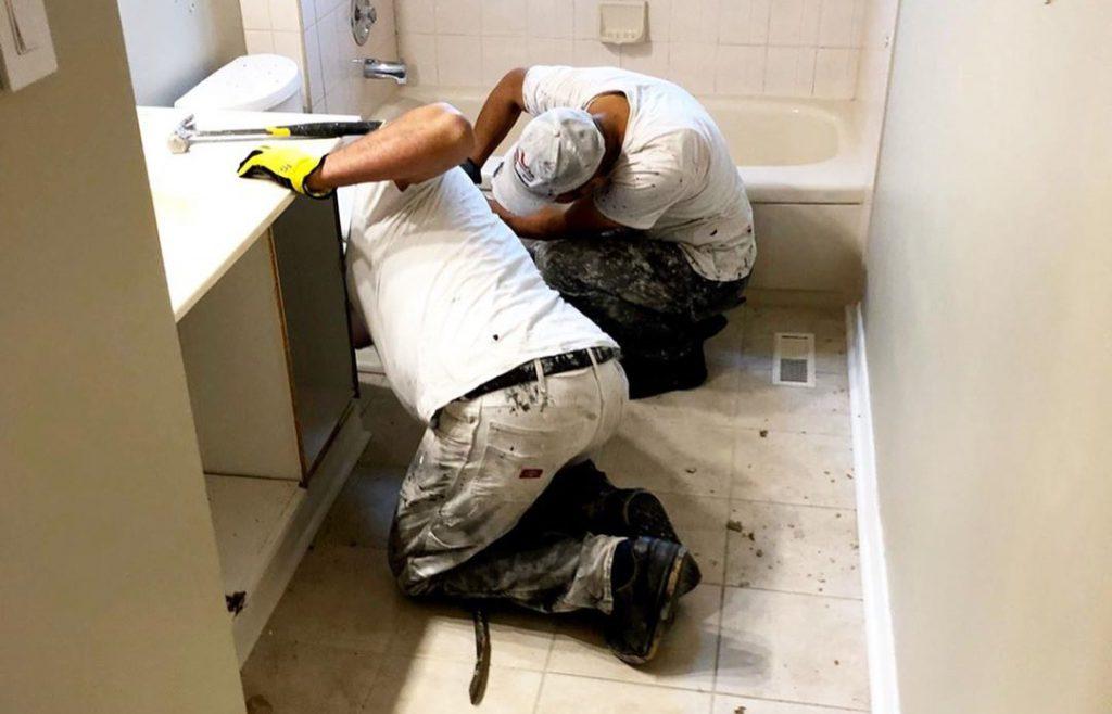 bathroom renovation by refined renos toronto