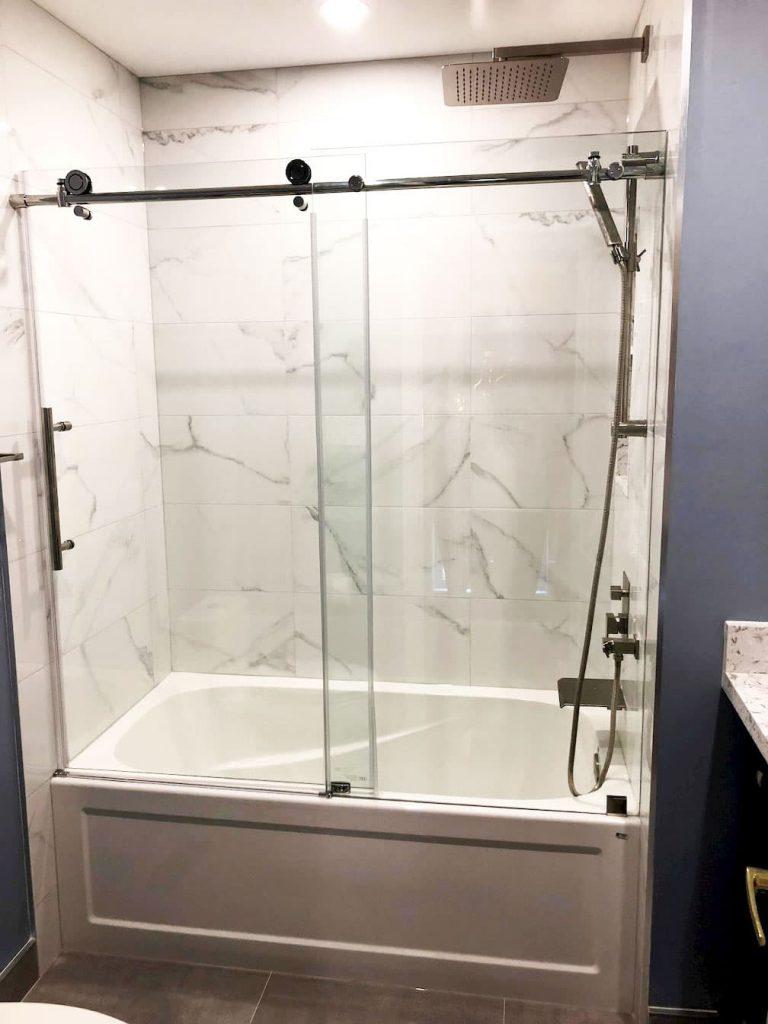 Bathtub Installation Project in Custom Bathroom